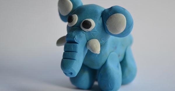 Elefant din plastilină