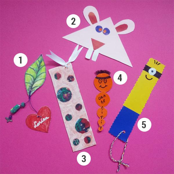 Cinci semne de carte handmade