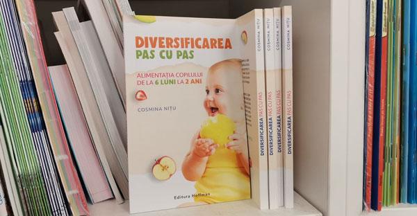 """Cosmina Niţu este autoarea cărţii-ghid """"Diversificarea pas cu pas"""""""